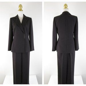 Tahari Dark Brown Double Breasted Pant Suit 8